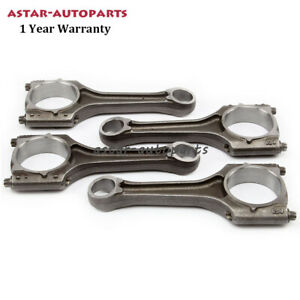 4x Connecting Rod Con rods Φ21mm Set Fit For VW Golf Jetta Passat Audi A4 2.0TSI
