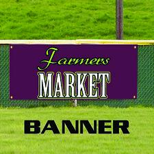 Farmers Market Organic Produce Unique Novelty Indoor Outdoor Vinyl Banner Sign
