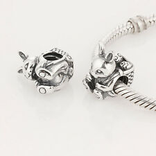 EASTER BUNNY .925 Sterling Silver European Charm Bead E2