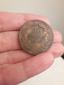 1865 10 Centimes. Grand Duche De Luxembourg. As Seen.