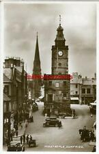 REAL PHOTOGRAPHIC POSTCARD OF THE MIDSTEEPLE, DUMFRIES, DUMFRIESSHIRE, SCOTLAND