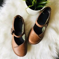DANSKO Brown Suede and Leather Mary Jane Shoes Women's 7 EUC