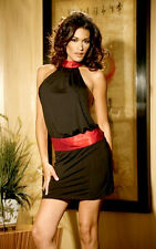 Backless halter top & mini skirt L fits 12-14 uk Party Elegant Moments Christmas