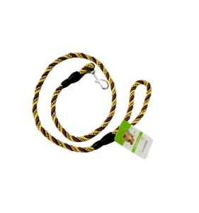 Pet Dog Braid Weave Rounded Double Strand Traction Rope Lead Leashes Metal Hook