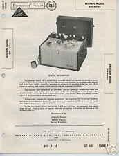 Ekotape Model 310 Series Tape Recorder Photofact