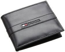 BRAND NEW TOMMY HILFIGER MEN'S LEATHER CREDIT CARD WALLET BILLFOLD BLACK 5673-01
