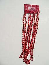 9 FT RED FACETED BEAD GARLAND CHRISTMAS VALENTINES DAY PATRIOTIC DECORATION