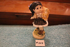 Sunny Day Little Girl With Squirrel Statue Ceramic Happy Paperweight Item#329