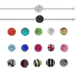 Bracelet Ball Disco & Chain Stainless Steel of Your Choice