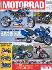 M0526 + SUZUKI GSR 600 + TOP-Test MOTO MORINI Corsaro 1200 + MOTORRAD 26/2005