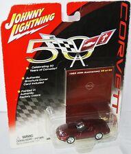 Corvette 50 Years - 1993 CHEVY CORVETTE - red met. - 1:64 Johnny Lightning