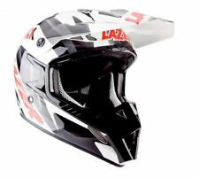 LAZER MX8-PURE GLASS GEOPOP WHITE/BLACK/RED MEDIUM HELMET