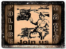 POLICE bike METAL SIGN MOTORCYCLE vintage style OFFICER COP LAW decor 461