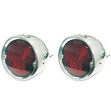 55-56-57-58-59 Chevy Truck Tail Light Lens & Stainless Steel Housing Bezel Pair
