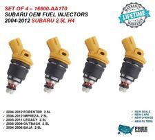 4pcs OEM 550cc JECS / Subaru Side Feed Fuel Injector For Forester Impreza Legacy