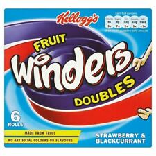 Kellogg's Fruit Winders Doubles Strawberry & Blackcurrant (6x17g)