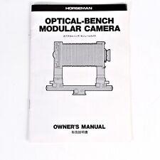+Vintage Original Horseman Optical Bench Modular Film Camera Instruction Manual