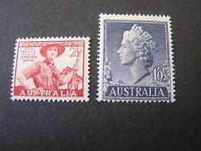 Australia, Scott # 216+279(2), Total 2 1948-55 Scout+Qe2 Issues Mnh