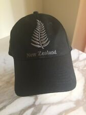 New Zealand Adjustable Black Baseball Hat Cap Embroidered
