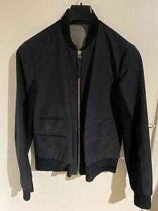 Paul Smith Mainline Zip up Bomber Jacket Wool Mix Navy/Black - MEDIUM