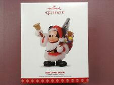 "Hallmark Disney MICKEY MOUSE ""HERE COMES SANTA!"" 2017 - NEW NIB"