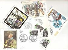 France 1982 Scouts Baden Powell  4 different Cachet FDC
