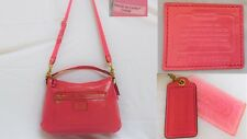 COACH F20108 Poppy Daisy Liquid Gloss Coral Pink Patent Leather Convertible Bag
