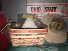 Longaberger 2012 Mother's Day basket combo - B, L, P, lid w/decorative knob- new