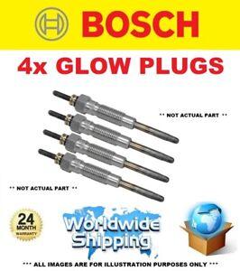 4x BOSCH GLOW PLUGS for TOYOTA HILUX REVO VIII Pickup 2.4D 4WD (GUN125) 2015->on
