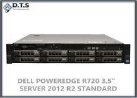 Dell PowerEdge R720 H710 2.4Ghz 8core 48gb 8x 300GB 15k Windows Server 2016
