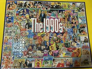 White Mountain 1000 Piece Jigsaw Puzzle larger pieces The 1990's