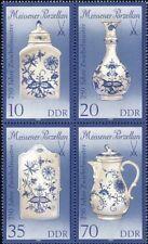 Germany 1989 Meissen/Porcelain/Coffe Pot/Tea Caddy/Art/Design 4v set (n40752)