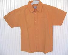 Chemise garçon 6 ans BEST WAY orange mc 100% coton