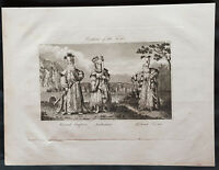 1798 Henry Moores Antique Print of The Costumes of Ottoman Royalty, Turkey