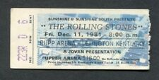 1981 Rolling Stones concert ticket stub Tattoo You Rupp Lexington Jagger Richard