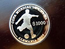 URUGUAY - 1000 Pesos 2003 - FUSSBALL - WM 2006 - Spieler 27g  Silber Proof