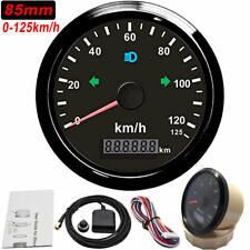 85mm Digital GPS Speedometer Odometer Gauge 125km/h for Motorcycle Car Boat ATV