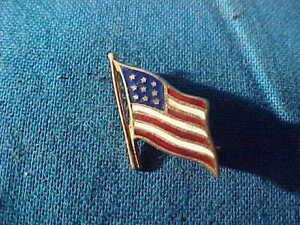 Vintage 14K GOLD US American FLAG Lapel PIN