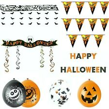 HALLOWEEN BUNTING BALLOONS SCARY PARTY DECORATIONS HORROR BANNER GARLAND