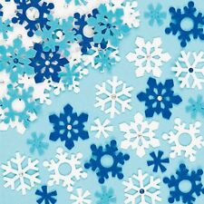 20 Xmas Glitter Snowflake Felt stickers - Kids Christmas Crafts Card Peel Stick