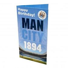 OFFICIAL~ MANCHESTER CITY FOOTBALL CLUB ~ Birthday Card ~ MAN CITY ~ with badge