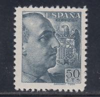 ESPAÑA (1939) NUEVO SIN FIJASELLOS MNH - EDIFIL 872 (50 cts) FRANCO - LOTE 2