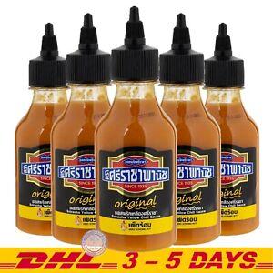 Sriracha Panich Yellow Chili Sauce Very Strong Hot Chili Sauce Original 230g X 5