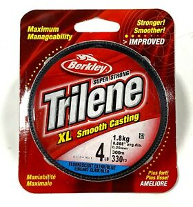 Berkley Trilene XL Smooth Casting Fluorescent Clear/Blue 4 Lb 330 YD