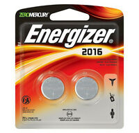 Energizer CR 2016 Lithium Coin 3V Batteries ECR2016 2-Pack 2016BP-2 Exp: 2024