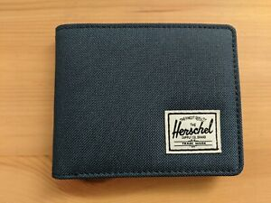NEW Herschel Supply Designer Men's Roy Street Bi-Fold Wallet RFID - Navy Blue