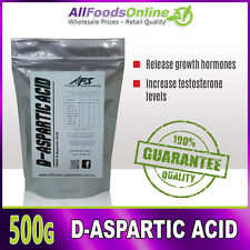 D-Aspartic Acid - All Food Supplements - Pure - 500g