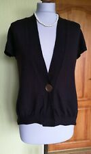 Womens C.P. Company V Neck Wool Cardigan Jacket Short Sleeve Size 46 ,Good cond.