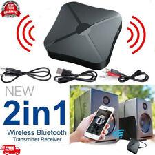 Wireless 2 in1 Bluetooth Audio Transmitter Car Receiver HIFI MP3 Adapter AUX RCA