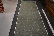 Japanese Silk Fabric Dak Greem with Linear Design 1535